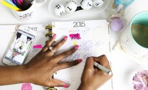 writing down schedule