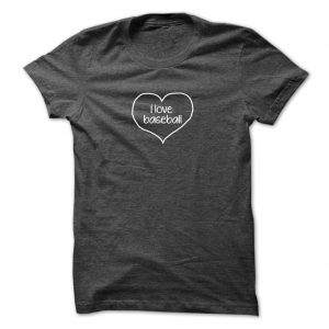 i love baseball 6 inch final shirt mockup mens dark gray