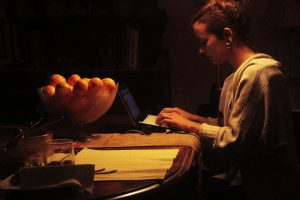 woman-working-at-night
