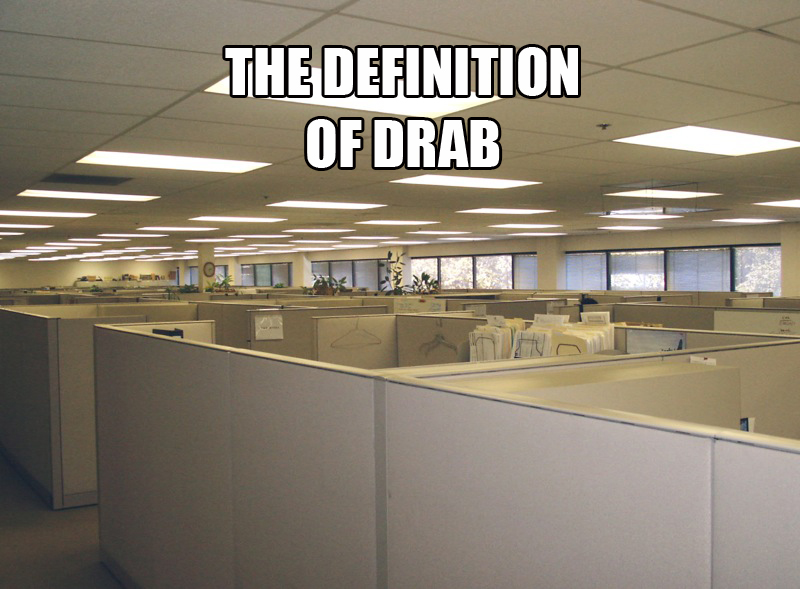 the definition of drab