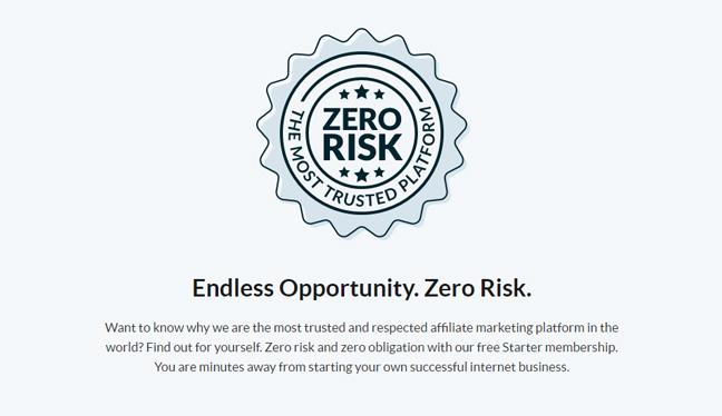 weatlhy affiliate zero risk banner
